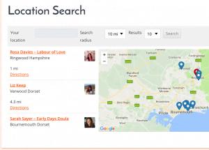 Dorset Doulas - Location Search